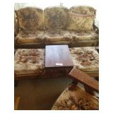 5 Pieces of Wood Furniture with Brown & Beige Cush