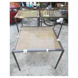 3 Outdoor Mainstay Brand Glasstop Tables