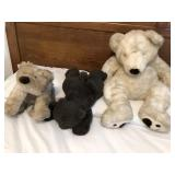 Lot of 3 Plush teddy bears