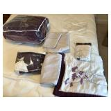 Queen size purple bed in a bag