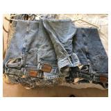 3 pair Vintage Wrangler Blue Jeans 44x32