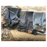 3 pair of vintage blue jeans Levi