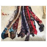 17 pcs of mens dress ties, really nice selection