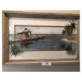 Ellen Snyder print framed seaside décor