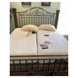 King size wood & Iron bed w/iComfort tempurpedic