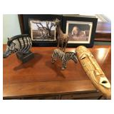 6 pcs of African themed art, wood carved ++