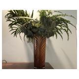 """Tiger art glass 16"""" vase"""