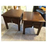 Pair of Walnut stained end tables
