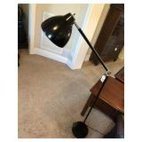 Black adjustable floor lamp