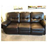 La Z Boy Leather Double Recliner Moca