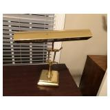 Vintage Heavy Brass executive desk lamp