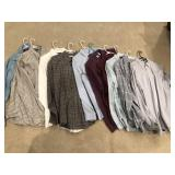 10pcs Mens dress button down LS shirts