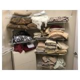 Large lot of Towels & bedding, pillows