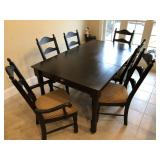Mocha dining room table w/6 chairs