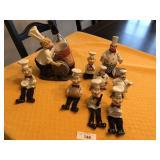 9pcs of Chef kitchen décor figures
