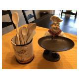 2pcs large chef décor items