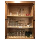 Shelves full of Crystal drink ware & more