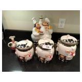 5pcs KMC chef Cookie Jar & canister set