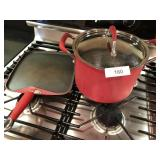 2pcs Kitchen Aid skillet & cooking pot