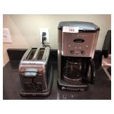 2pcs Cruisinart Coffee Maker, Hamilton Beach toast