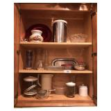 Cabinet full of dishes etc..