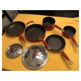 7pcs Kitchen Aid Red cookware