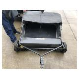 Precise fit pull behind lawn sweeper