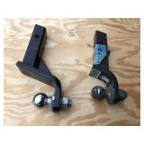Pair of trailer hitch & balls for receivers 2""