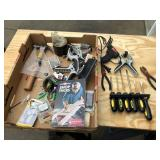 Large lot of misc tools, screw drivers ++