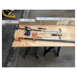 Set of 8 var sized clamps
