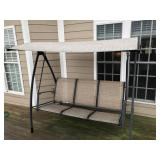 Metal patio swing with cover
