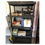 5 Tier black shelving rack only