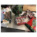 Large lot of Christmas décor lights & Santa ++
