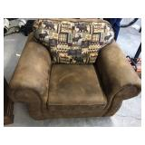 Suede Leather outdoorsman chair