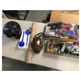 Large lot of misc items, décor tools helmet ++