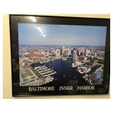 Baltimore Inner Harbor print in frame