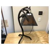 Large metal hanging pine tree lamp