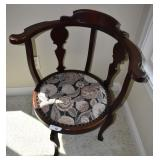 Vintage / Antique Corner Upholstered Chair