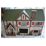 Vintage 2-story Pressed Board Dollhouse