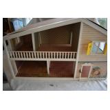 Vintage Plastic & Pressed Board Dollhouse