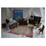 8 pc. Vintage Dollhouse Furniture