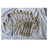 29 pc. Mixed silver plat flatware