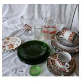 Great selection of holiday china and glassware.