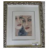 "Pencil signed original watercolor ""Connection"""