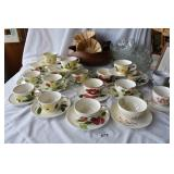19 sets of BRP cups and saucers+