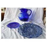 Cobalt pitcher, plate and plater