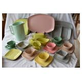 34 pc of multicolored Harmony House dining ware