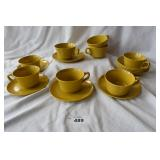 17 pc. Of allied chemical plastic dinner ware