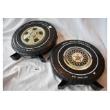 Two vintage wheel cases of toy cars