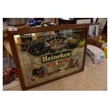 Large Heineken Bar Top mirror